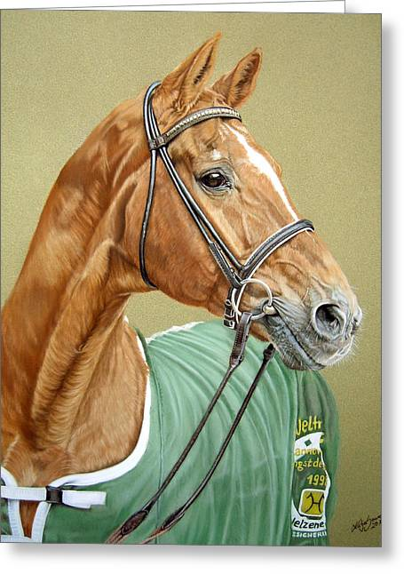 Dressage Pastels Greeting Cards - Weltmeyer Greeting Card by Katja Sauer