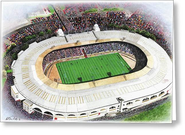 American Soccer Prints Greeting Cards - Wembley Stadium Greeting Card by Kevin Fletcher