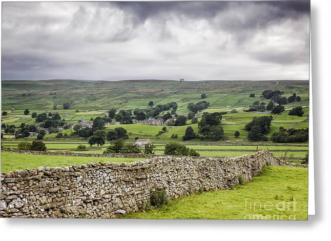 Dry Stone Wall. Greeting Cards - Wensleydale North Yorkshire England Greeting Card by Colin and Linda McKie