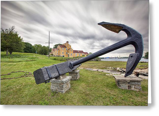 New England Village Greeting Cards - Wentworth Anchor Greeting Card by Eric Gendron