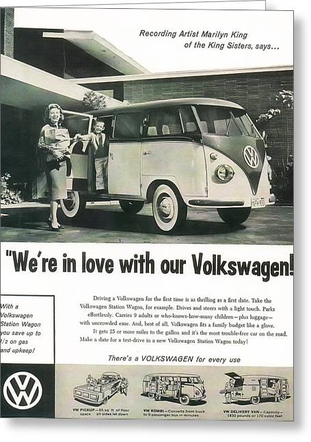 We're In Love With Our Volkswagen Greeting Card by Georgia Fowler