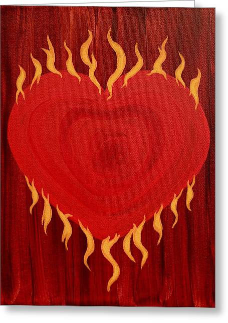 Were Not Our Hearts Burning Within Us Greeting Card by Michele Myers