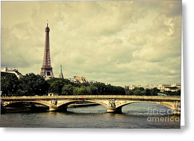 Tour Pyrography Greeting Cards - Were You From The Streets Of Paris Greeting Card by Kirstie H