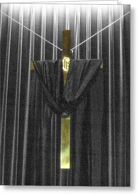 Maundy Thursday Greeting Cards - Were You There Greeting Card by Bruce Carpenter