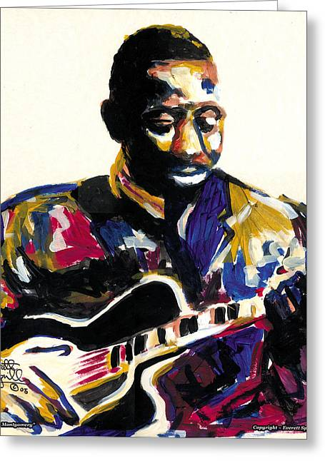 Pablo Mixed Media Greeting Cards - Wes Montgomery - 2005 Greeting Card by Everett Spruill