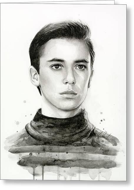 Trek Greeting Cards - Wesley Crusher Star Trek Fan Art Greeting Card by Olga Shvartsur