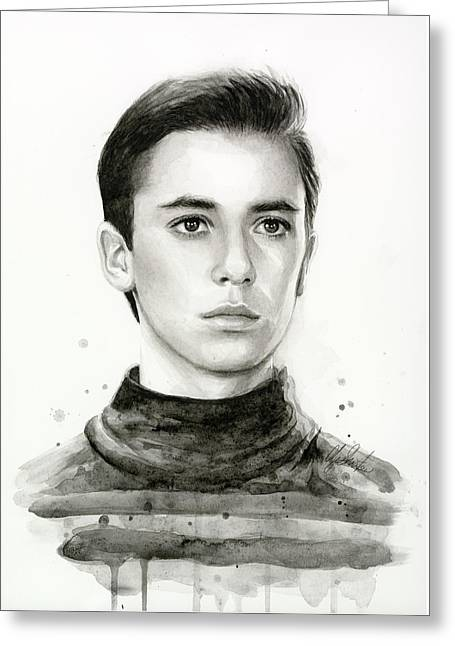 Tng Greeting Cards - Wesley Crusher Star Trek Fan Art Greeting Card by Olga Shvartsur