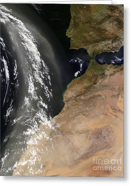 West Africa Greeting Cards - West Africa, Satellite Image Greeting Card by Nasa