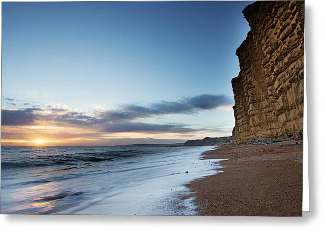 Burton Greeting Cards - West Bay Landscape Greeting Card by Ollie Taylor
