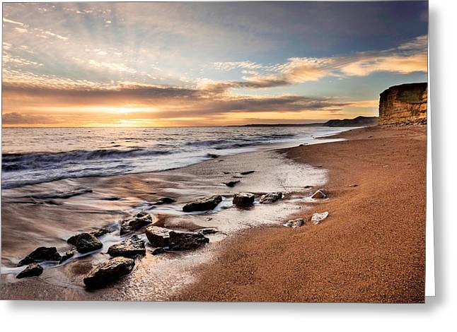 Burton Greeting Cards - West Bay Greeting Card by Ollie Taylor