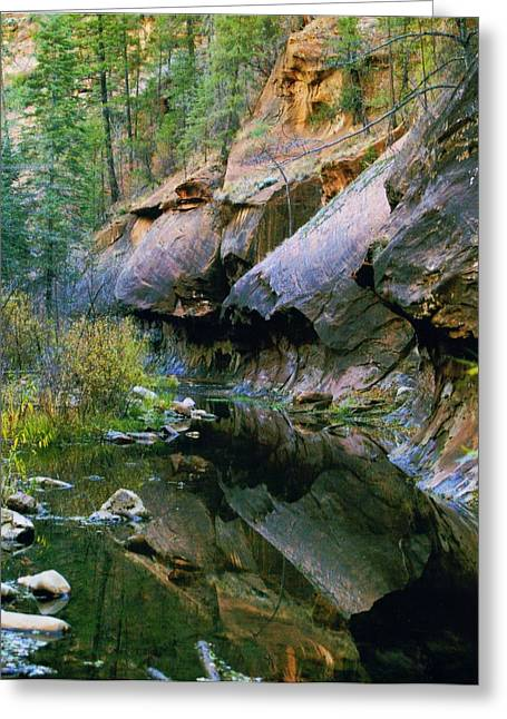 Oak Creek Greeting Cards - West Branch Oak Creek Greeting Card by Joshua House