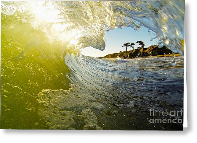 Santa Cruz Surfing Greeting Cards - West Cliff Wave Greeting Card by Paul Topp