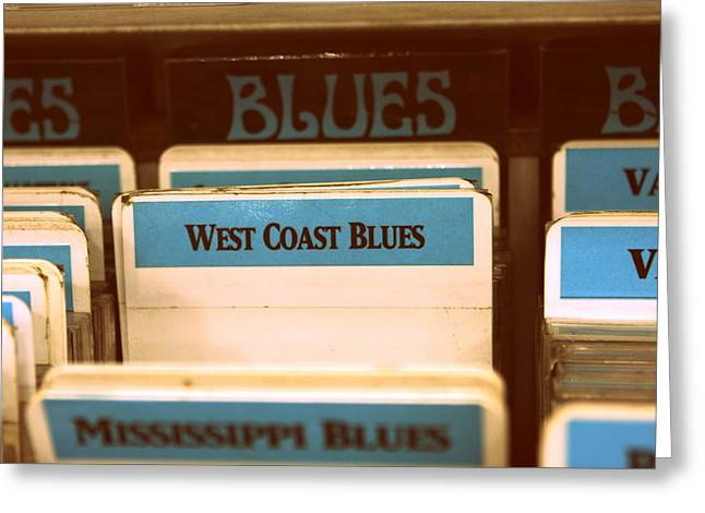 Music Cds Greeting Cards - West Coast Blues Greeting Card by Sarah Bergan