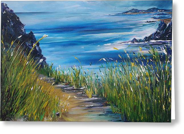 West coast of Ireland Greeting Card by Conor Murphy
