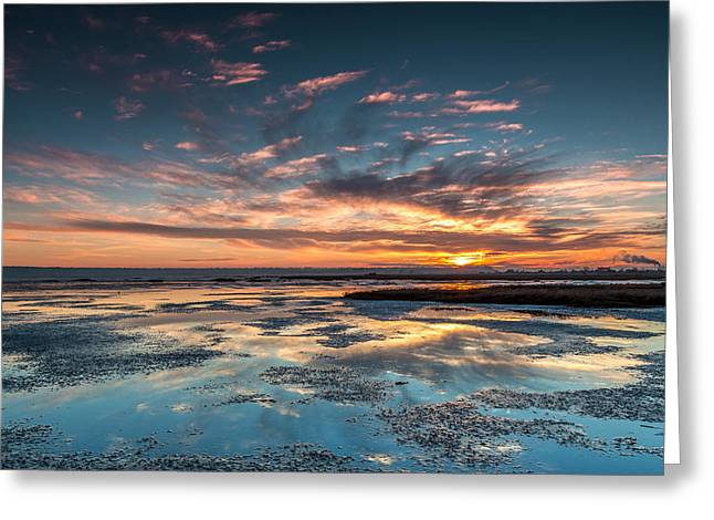 Sunset Seascape Greeting Cards - West coast Seascape Sunset Greeting Card by Pierre Leclerc Photography