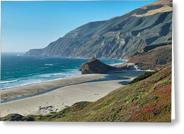 Big Sur Beach Photographs Greeting Cards - West Coast Serenity Greeting Card by Rob Wilson
