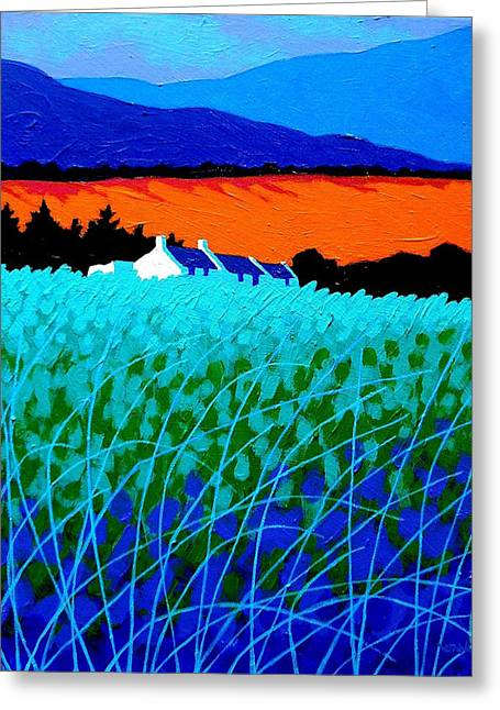 Landscape Posters Greeting Cards - West Cork Landscape Greeting Card by John  Nolan