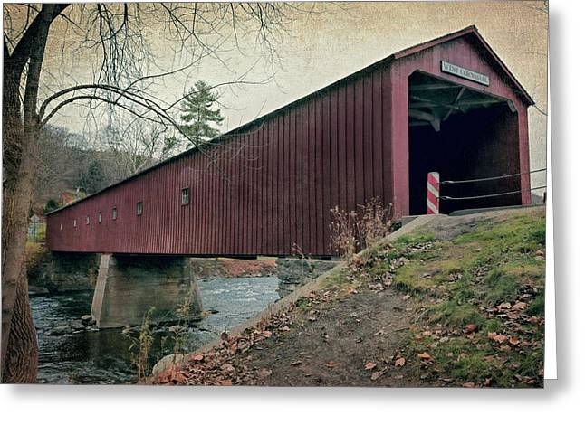 Old Country Roads Greeting Cards - West Cornwall Covered Bridge 3 Greeting Card by Joan Carroll