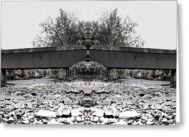 Covered Bridge Greeting Cards - West Cornwall Covered Bridge 6 Greeting Card by Ricardo Dominguez