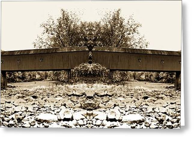 Covered Bridge Greeting Cards - West Cornwall Covered Bridge 7 Greeting Card by Ricardo Dominguez