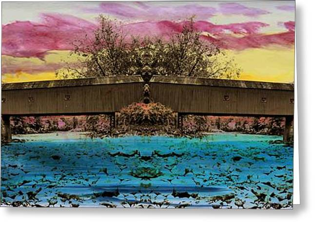Covered Bridge Greeting Cards - West Cornwall Covered Bridge 8 Greeting Card by Ricardo Dominguez