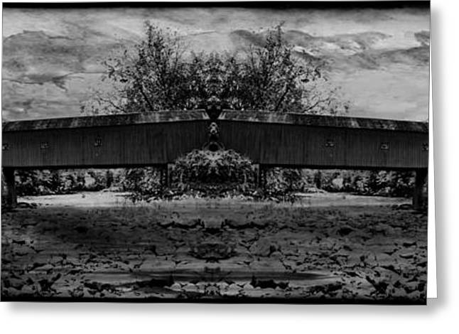 Covered Bridge Greeting Cards - West Cornwall Covered Bridge 9 Greeting Card by Ricardo Dominguez