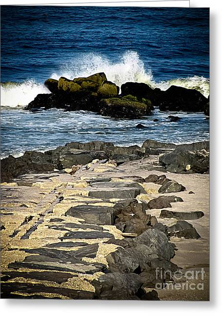 Original Art Photographs Greeting Cards - West End Jetties Greeting Card by Colleen Kammerer