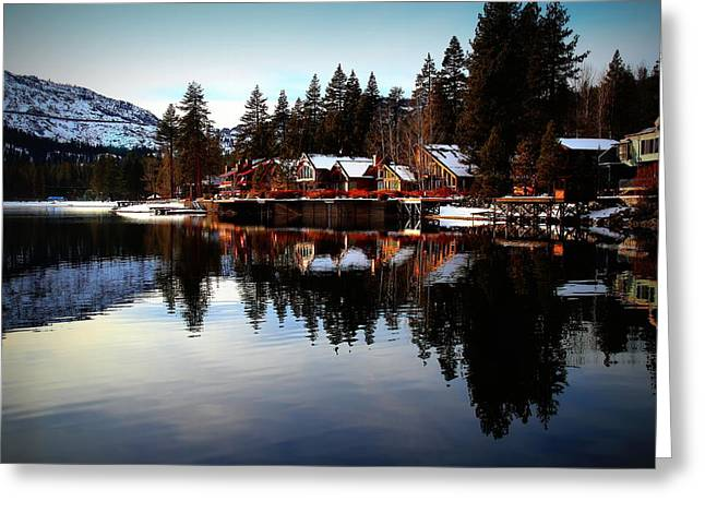 West End of Donner Lake Greeting Card by Garrett Nyland