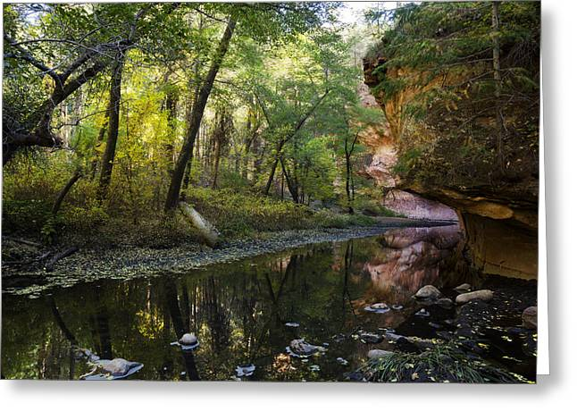 West Fork Greeting Cards - West Fork Reflections  Greeting Card by Saija  Lehtonen