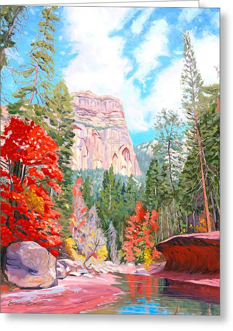 West Fork Greeting Cards - West Fork - Sedona Greeting Card by Steve Simon