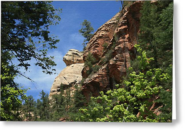 West Fork Paintings Greeting Cards - West Fork Trail Rock Formation Greeting Card by Ellen Henneke