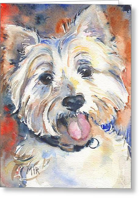 Westie Greeting Cards - West Highland Terrier Greeting Card by Maria