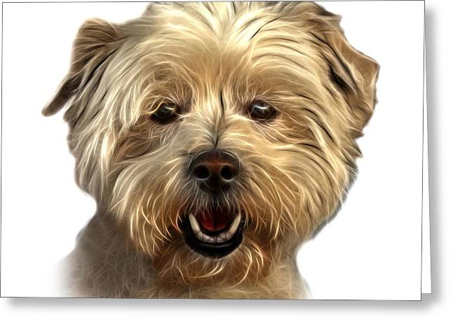 Maltese Mixed Media Greeting Cards - West Highland Terrier Mix - 8674 - WB Greeting Card by James Ahn