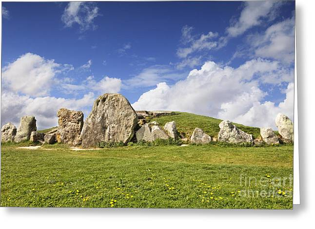 Barrow Greeting Cards - West Kennet Long Barrow Avebury Wiltshire England Greeting Card by Colin and Linda McKie