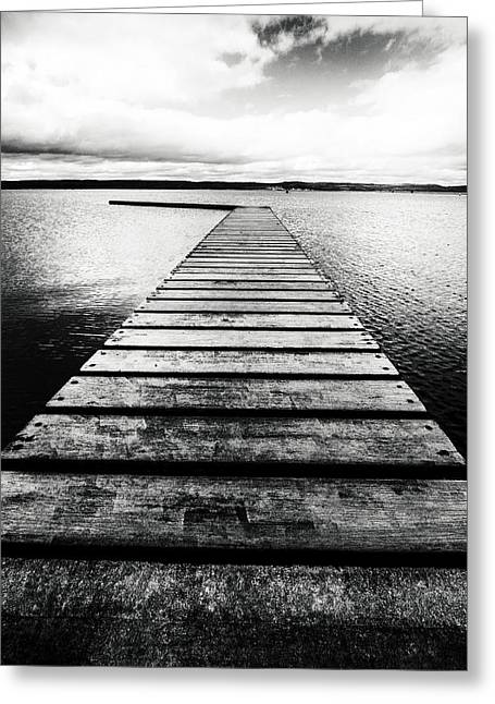 Landing Stage Greeting Cards - West Kirby Marine Lake Greeting Card by Wayne Molyneux