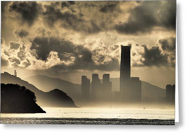 Kowloon Greeting Cards - West Kowloon at Sunrise Greeting Card by Martin Williams