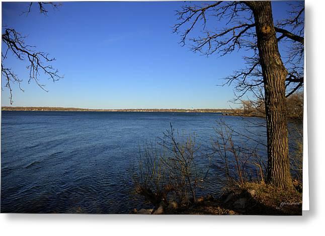 Okoboji Greeting Cards - West Lake Okoboji Greeting Card by Gary Gunderson