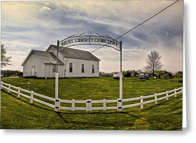 West Liberty Cemetery Greeting Card by Gregory Dyer