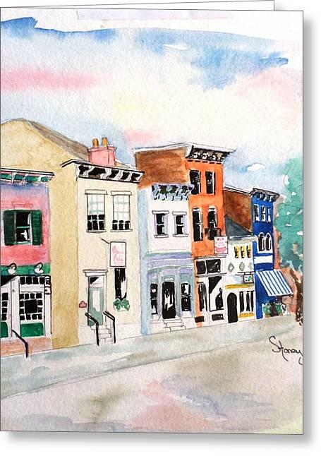 Goodfellas Greeting Cards - West MainStrasse  Greeting Card by Sandi Stonebraker
