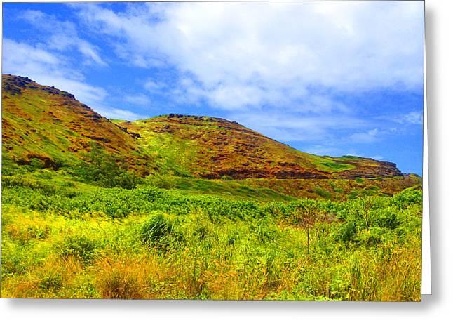 Unwind Digital Greeting Cards - West Maui Hills Greeting Card by Robert Pierce
