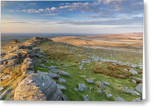 Tor Greeting Cards - West Mill Tor Greeting Card by Sebastian Wasek