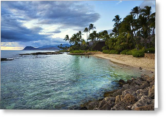 Ko Olina Lagoon Greeting Cards - West Oahu Beauty Greeting Card by James Crawford