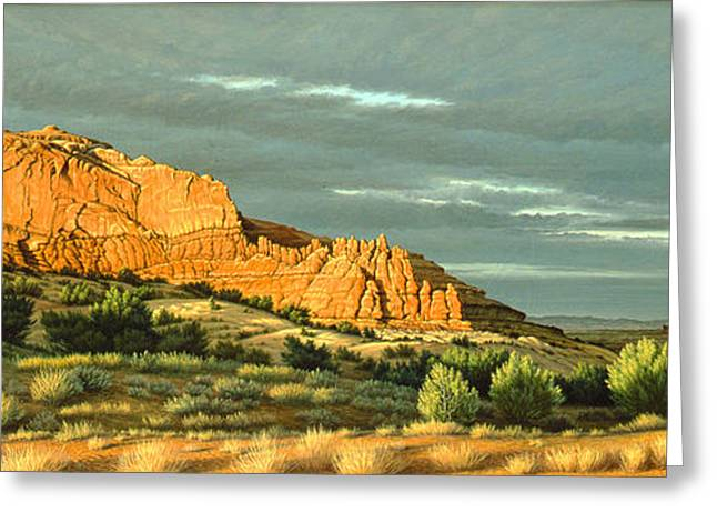 Butte Greeting Cards - West of Moab Greeting Card by Paul Krapf