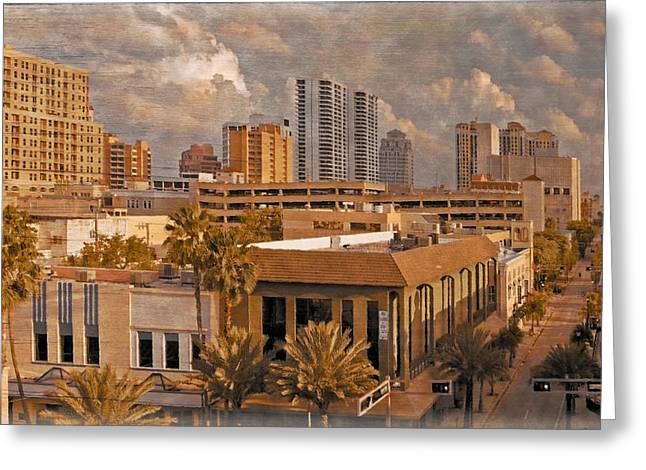 Center City Greeting Cards - West Palm Beach Florida Greeting Card by Debra and Dave Vanderlaan