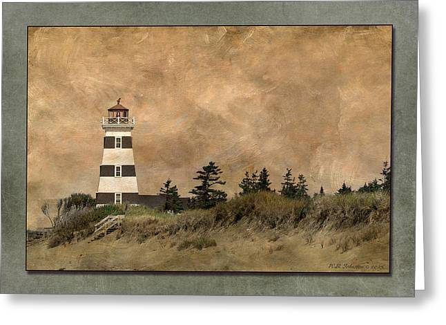 Princes Greeting Cards - West Point Lighthouse 5 Greeting Card by WB Johnston