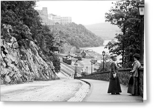 Greeting Card featuring the photograph West Point New York 1914 Vintage Photograph by A Gurmankin