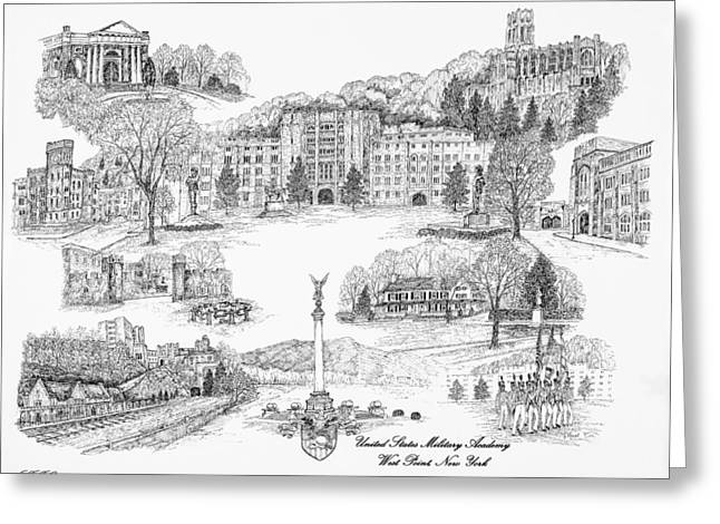 Bryant Greeting Cards - West Point United States Military Academy Greeting Card by Jessica  Bryant