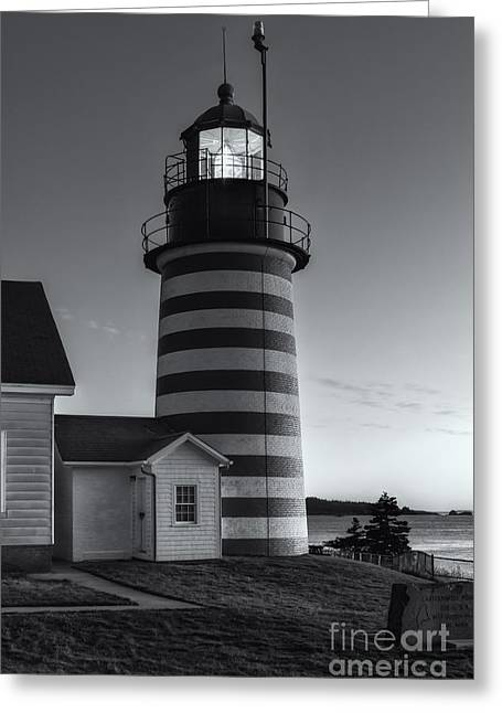 West Quoddy Head Light At Dawn II Greeting Card by Clarence Holmes