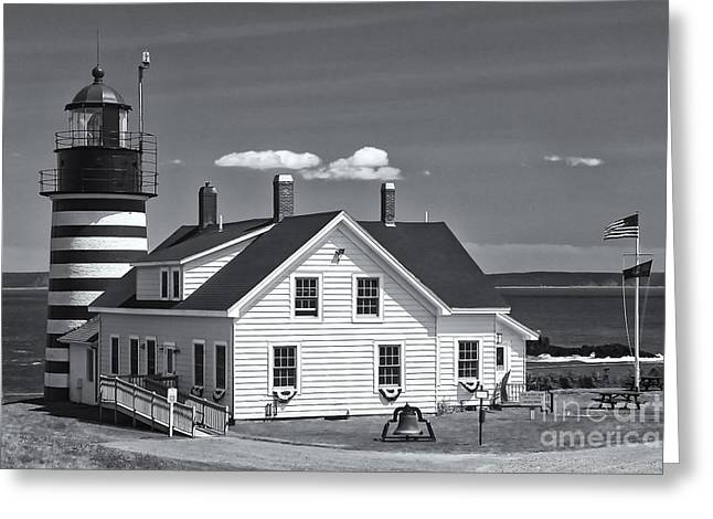Quoddy Head State Park Greeting Cards - West Quoddy Head Light II Greeting Card by Clarence Holmes