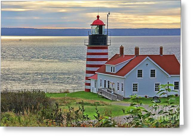 West Quoddy Greeting Cards - West Quoddy Head Lighthouse 3827 Greeting Card by Jack Schultz